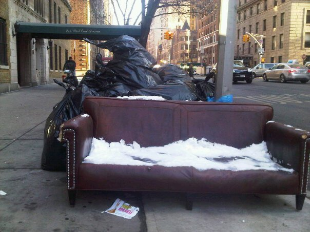 Couch in the city