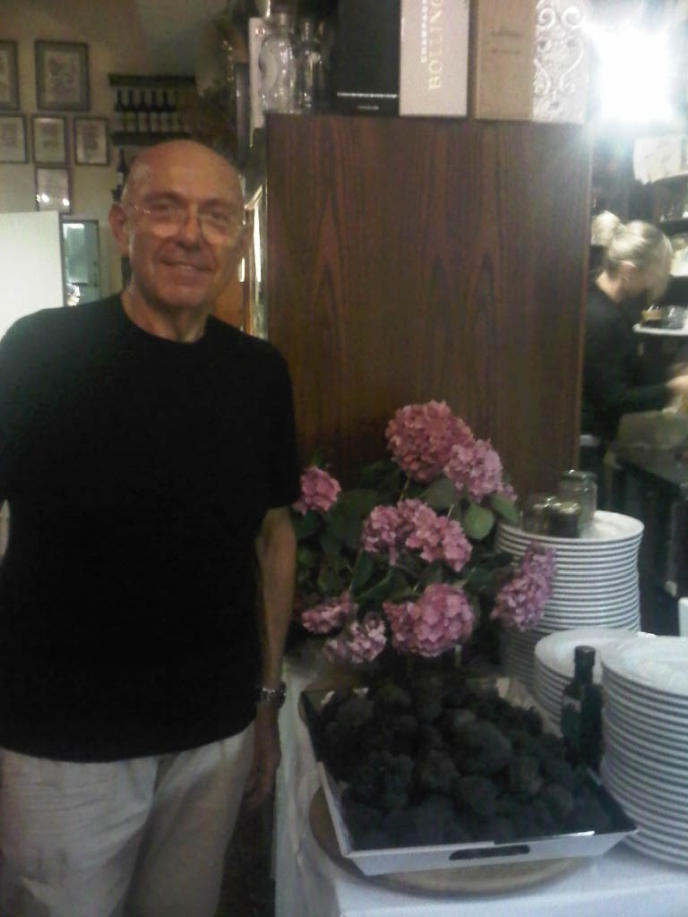 Paolino Cesare, the owner of Ristorante da Cesari, Bologna