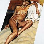 Kate Moss'a portrait, by Lucian Freud