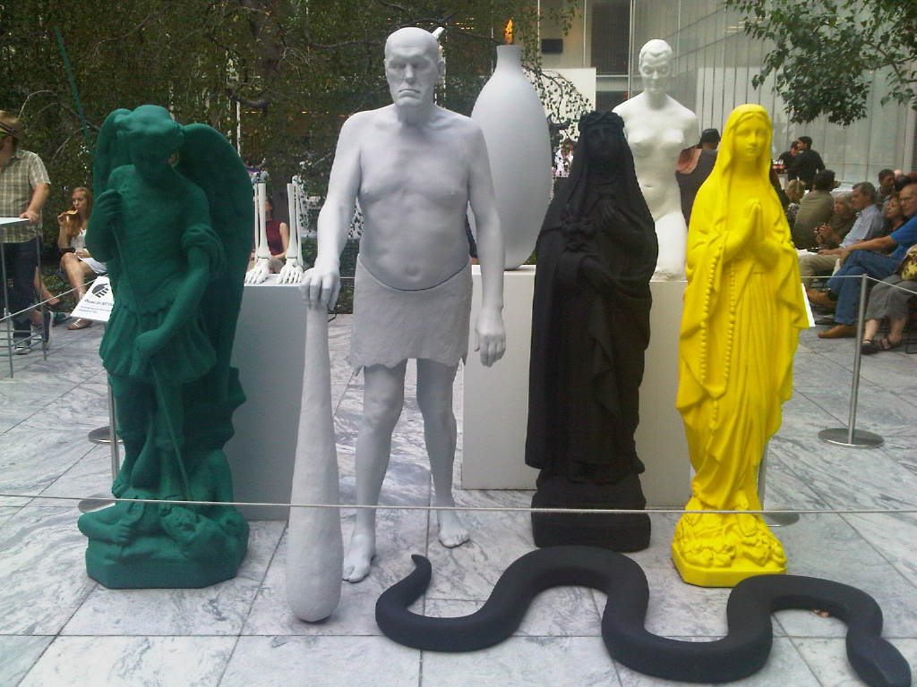 MOMA Garden: Group of figures by Katharina Fritsch