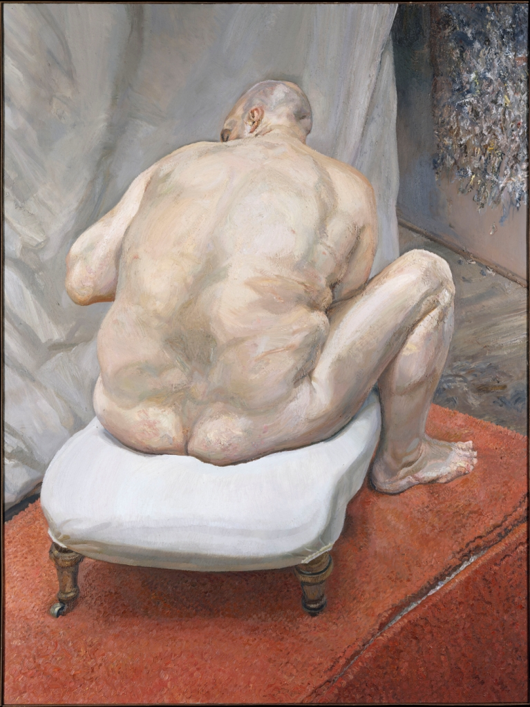 Naked Man Back View, by Lucian Freud at Met Museum, New York